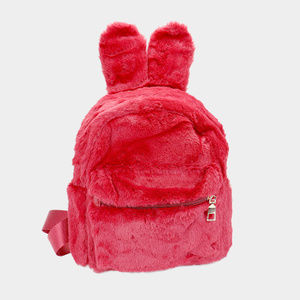 c44042b95cf3 Bags - New Bunny Ear Fluffy Faux Fur Mini Backpack